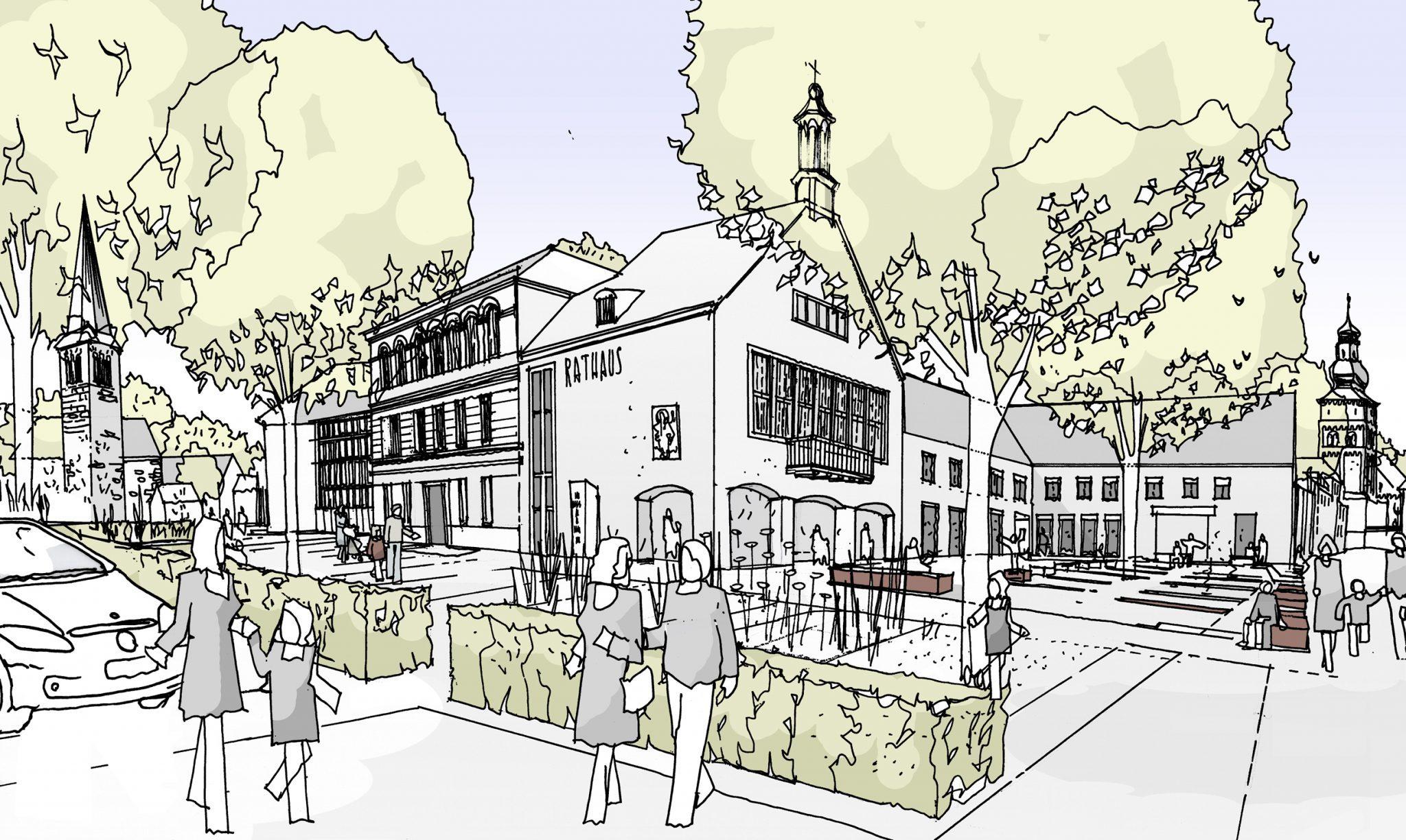 Umgestaltung Kloster- und Rathausplatz
