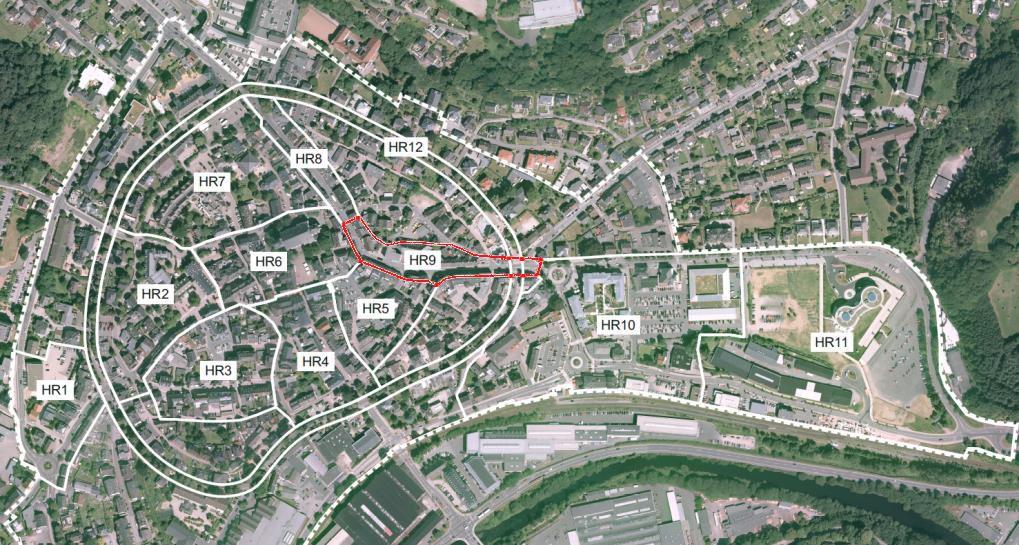 HR9: Die Verbindungsachse zwischen Fußgängerzone und Allee-Center