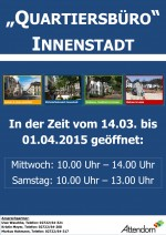 Quartiersbüro_Öffnungszeiten_Plakat