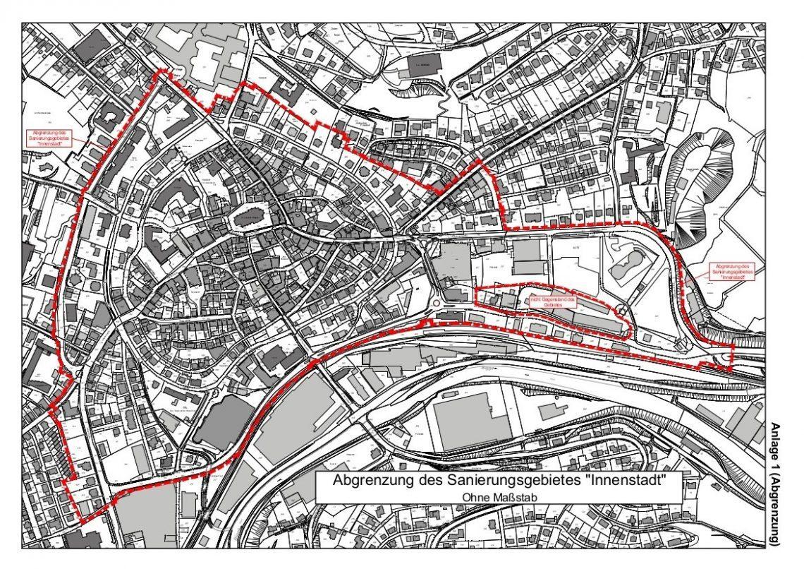 Abgrenzung Sanierungsgebiet Innenstadt